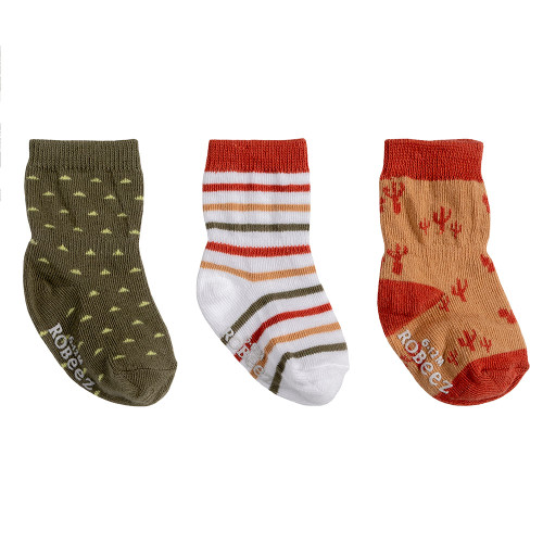 Robeez Indio Socks, 3-Pack