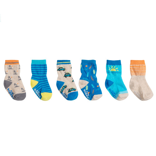 Robeez Surf Socks, 6-Pack