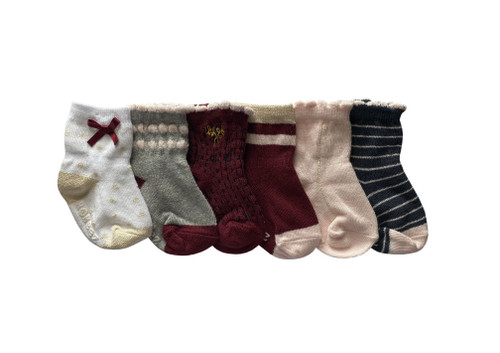 Dahlia Socks 6 Pack