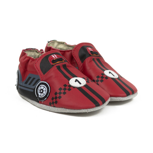 Robeez Racer Soft Soles Red