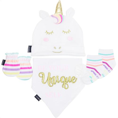 Robeez Unicorn 4 Piece Gift Set White