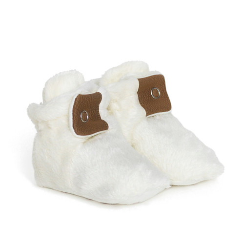 Miles Snap Booties Ivory
