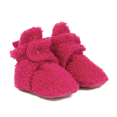 Sherpa Snap Booties Bright Pink