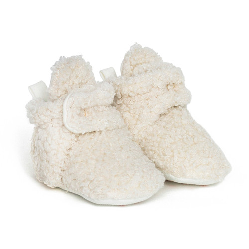 Sherpa Snap Booties Ivory