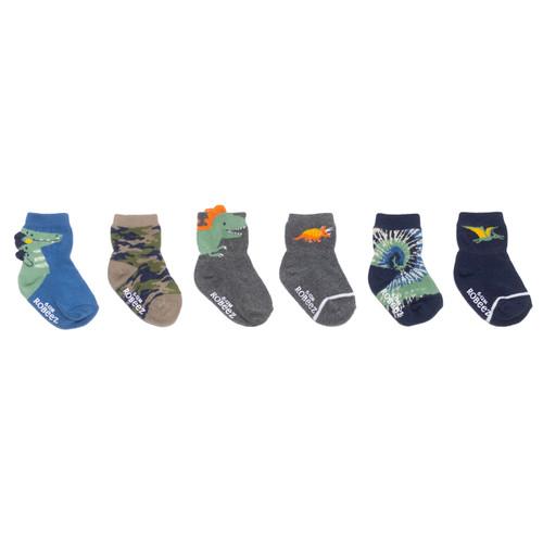 Roar-Some 6-Pack Infant Crew Socks