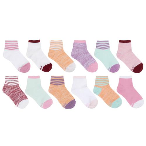 Bright Free Run Girls 12-Pack Kids Socks