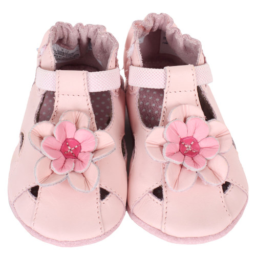 Robeez Pretty Pansy Baby Shoes Pink