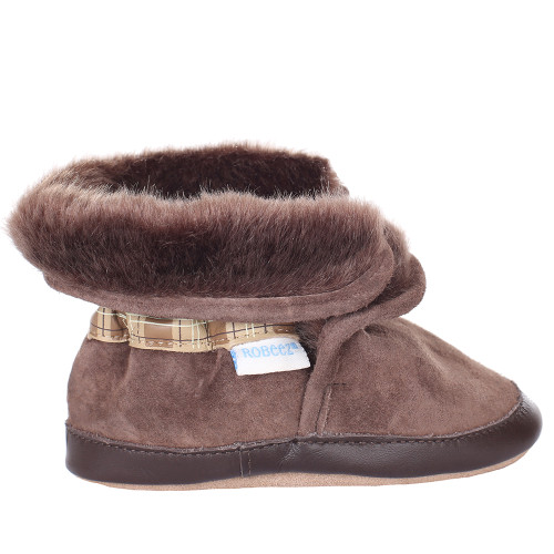0f15f014cdac ... Robeez Cozy Ankle Bootie Soft Soles