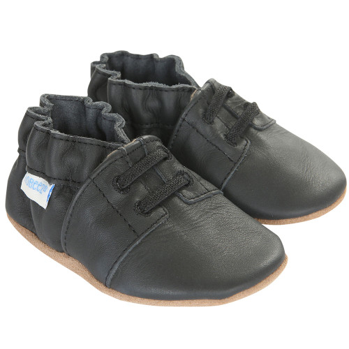 Robeez Special Occasion Black Soft Soles - Angle