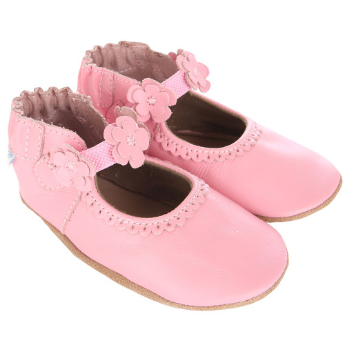 Robeez Claire Mary Jane Pink Soft Soles - Angle