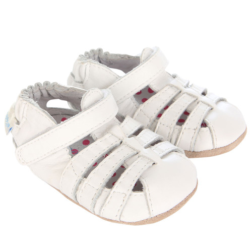 Robeez Paris White Mini Shoez - Angle