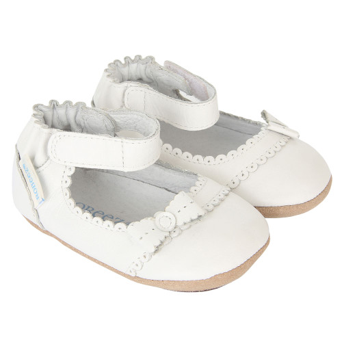 Robeez Catherine White Mini Shoez - Angle