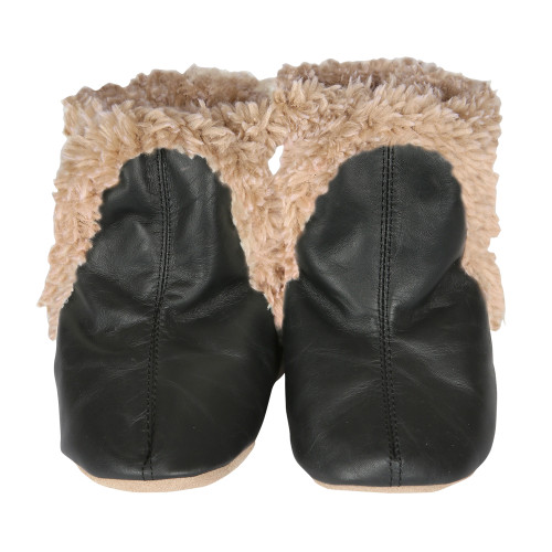 Robeez Classic Baby Boots Black Soft Soles