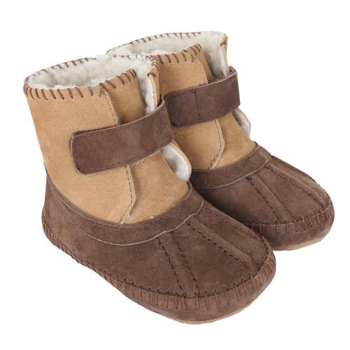Robeez Galway Cozy Boots Brown Soft Soles