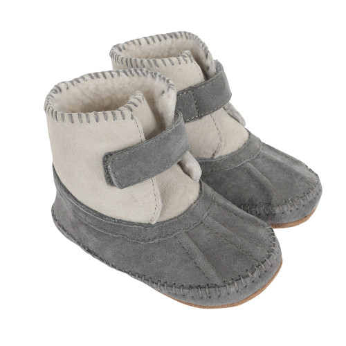 Robeez Galway Cozy Boots Grey Soft Soles