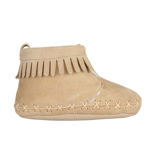 f0f414bafc70 ... Robeez Cozy Ankle Moccasins Taupe Soft Soles ...