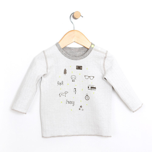 Reversible Shirt for babies, infants and toddlers.  Double Knit Jersey.