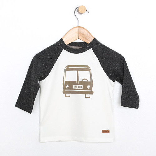 Top for baby boys and girls.  Baseball shirt in cotton.