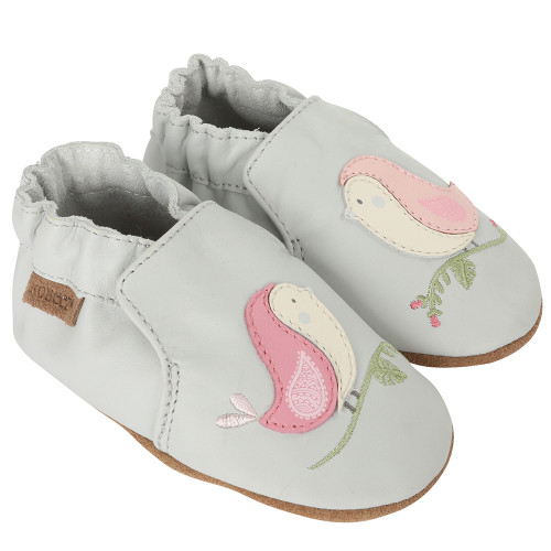 Robeez Bird Buddies Grey Soft Soles - Angle