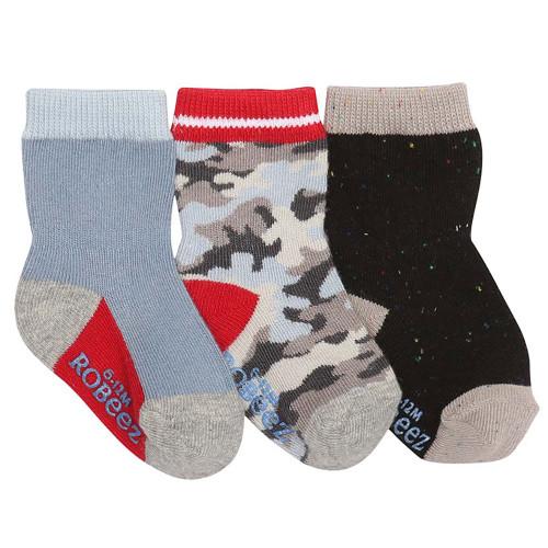 Robeez Camo Socks, 3-Pack