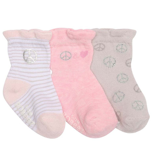 Robeez Peace and Love Socks, 3-Pack