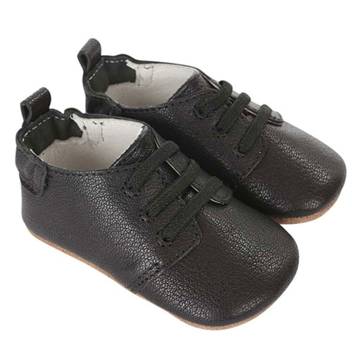 Robeez Owen Oxford Black First Kicks - Angle