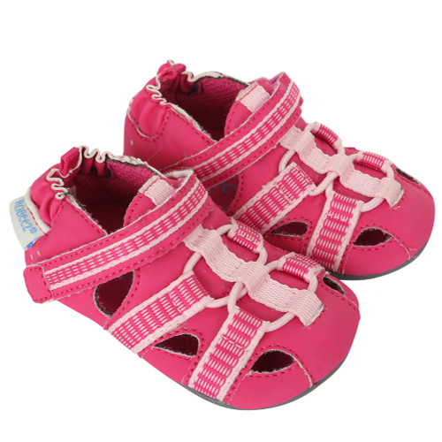 Robeez Beach Break Hot Pink Mini Shoez - Angle
