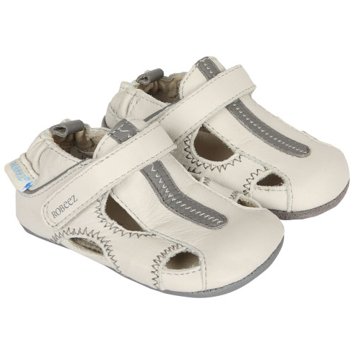 Robeez Rugged Rob Light Grey Mini Shoez - Angle