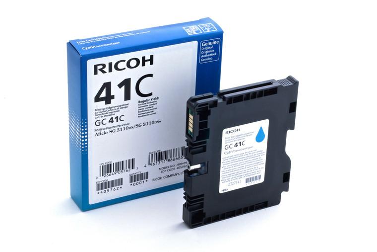 SFS-405762 Ricoh GC41C Cyan Ink Cartridge High Capacity