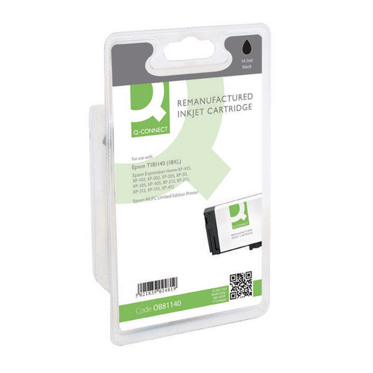 OB81140 Compatible replace Epson C13T18114010 18XL Black Ink Cartridge Daisy High Capacity