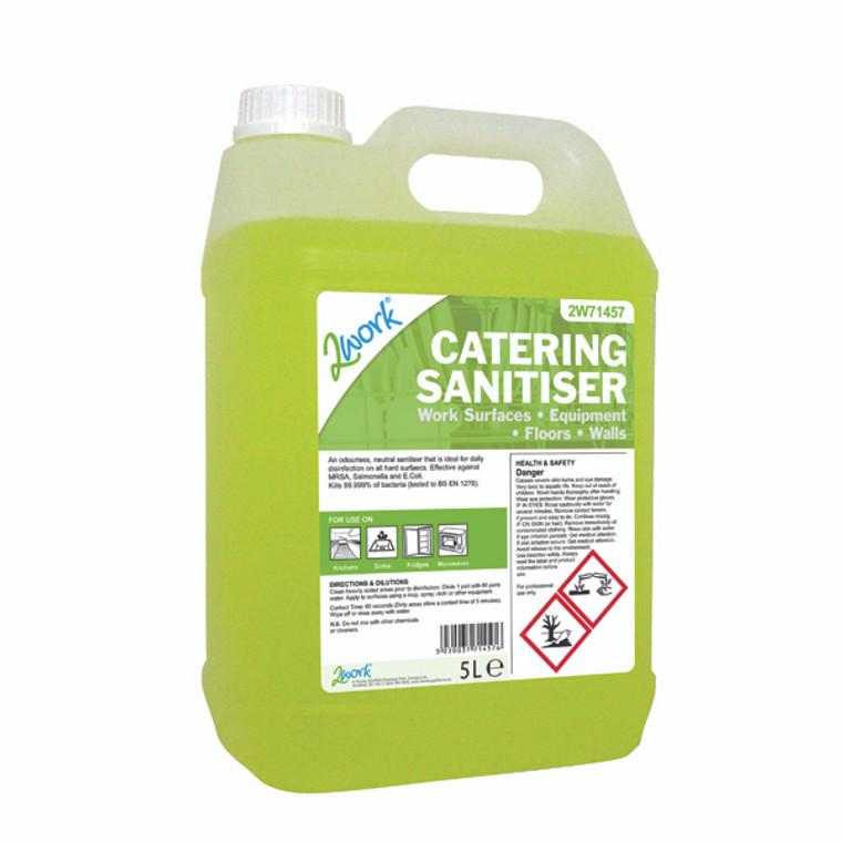2W71457 2Work Catering Sanitiser 5 Litre 201TFN