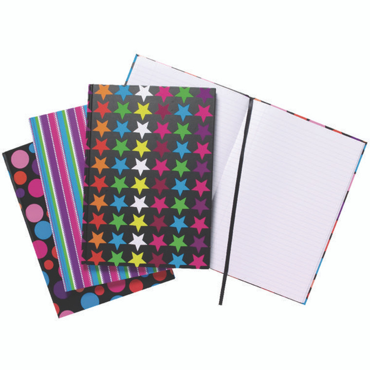 TGR01650 A4 Fashion Assorted Feint Ruled Casebound Notebooks Pack 5 301650