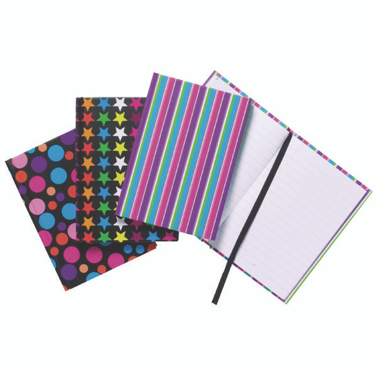 TGR01652 A6 Fashion Assorted Feint Ruled Casebound Notebooks Pack 10 301642