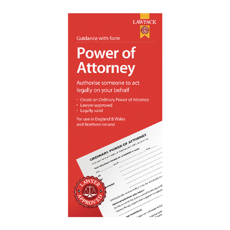 LWP3711 5 x Law Pack Power Attorney Pack Lawyer approved use in England Wales NI F334