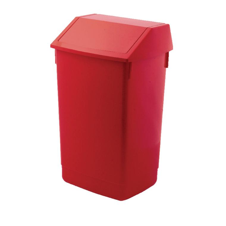 AG813421 Addis Fliptop Bin 60 Litre Red AG813421