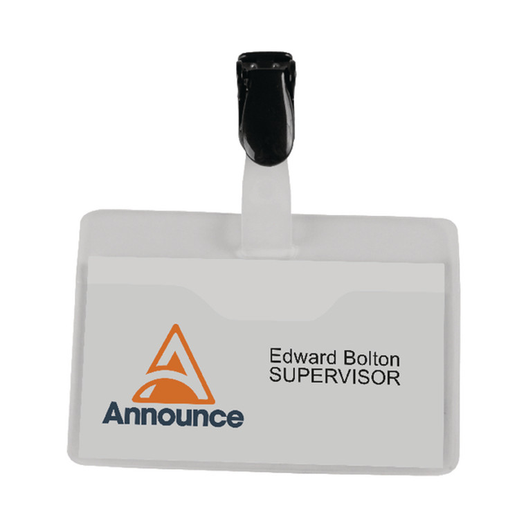 PV00921 Announce Visitor Name Badge 60x90mm Pack 25 PV00921