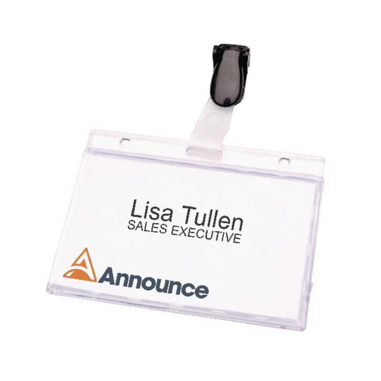 PV00925 Announce Security Pass Holder 60x90mm Pack 25 PV00925