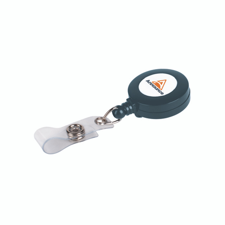 PV03304 Announce Badge Reel 660mm Charcoal Pack 10 PV03304