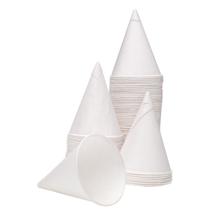 CPD40115 4oz Water Drinking Cone Cup White Pack 5000 ACPACC04