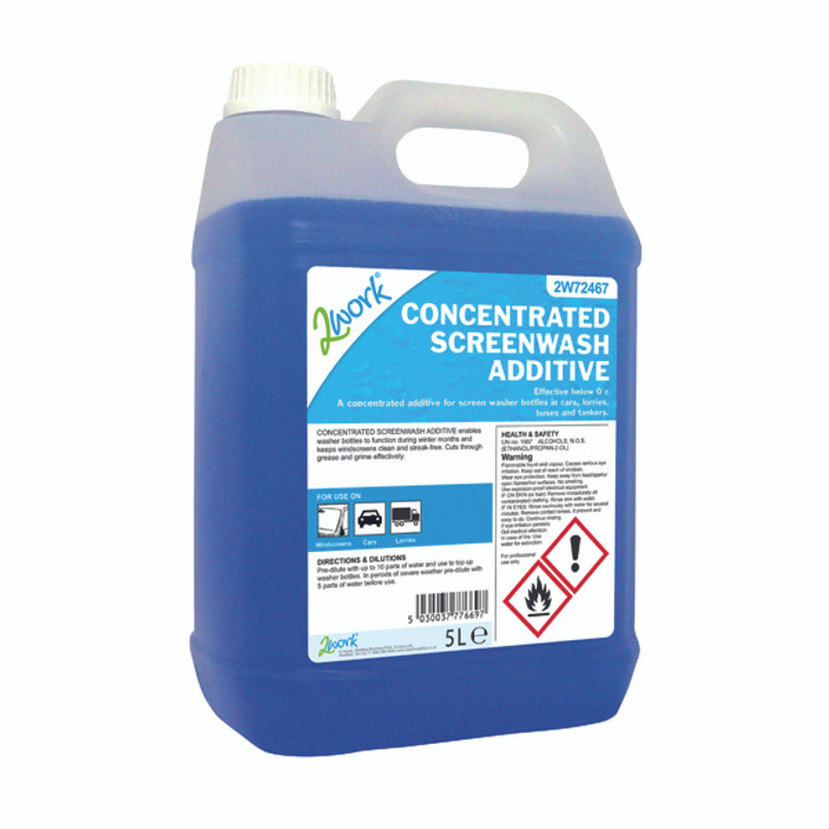 2W72467 2Work Screen Wash Additive 5 Litre 2W72467