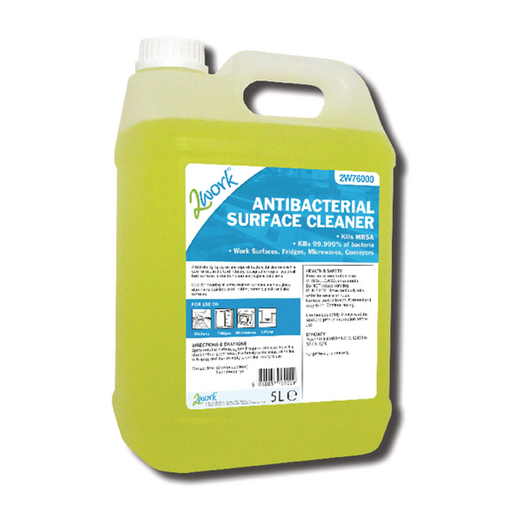2W76000 2Work Antibacterial Surface Cleaner 5 Litre 242
