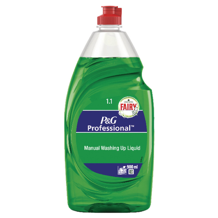 PX85043 6 x Fairy Washing Up Liquid 900ml Cuts through grease dirt with ease 0425099