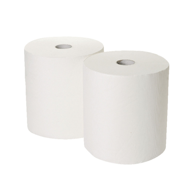 2W00621 2Work 3-Ply Industrial Roll 170m White Pack 2 GEM503B