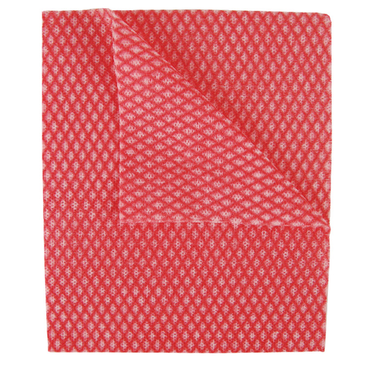 2W08170 2Work Economy Cloth 420x350mm Red Pack 50 100226R