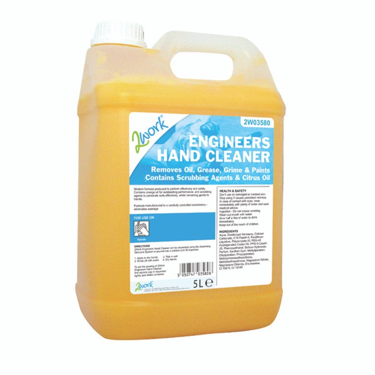 2W03580 2Work Engineers Hand Cleaner 5 Litre 415
