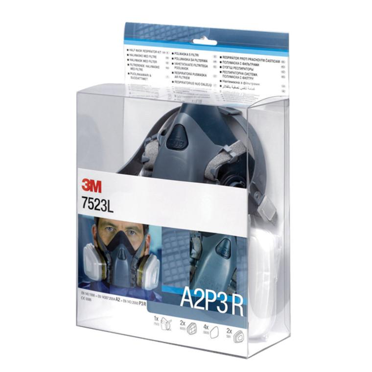 3M13145 3M Half Mask Filter Kit Conforms EN140 1998 7523L