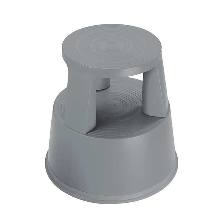 2W04998 2Work Plastic Step Stool with Non-Slip Rubber Base 430mm Dark Grey T7 Dgrey