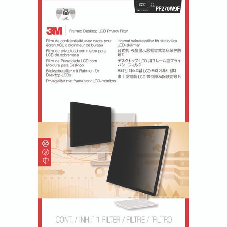 3M79773 3M Privacy Filter Widescreen Desktop LCD Monitor 27 0in PF270W9B