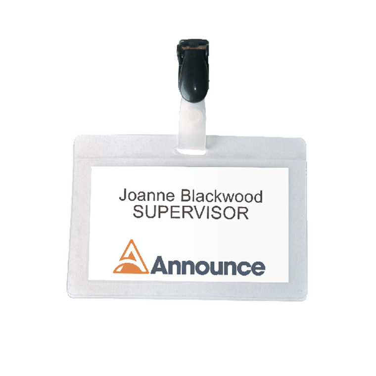 PV00924 Announce Self-Laminating Badge 54x90mm Pack 25 PV00924