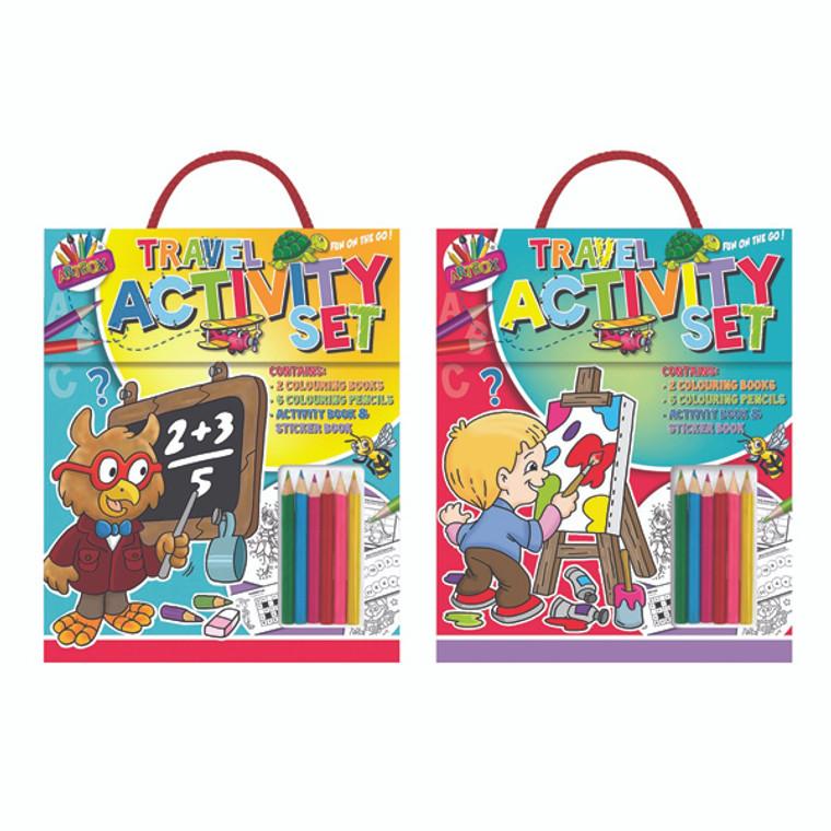 TA06893 Artbox Childrens Travel Activity Set Pack 6 6893